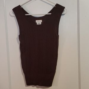 💛George Size Xsmall Brown Cable knit Tank